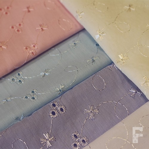 Broderie anglaise fabric the centre