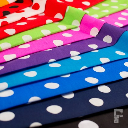 Polycotton Polka Dots - 20 mm Spots