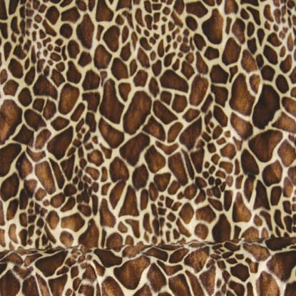 Animal print faux fur fabric the fabric centre for Animal print fabric for kids