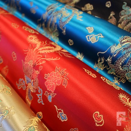 Chinese Brocade Fabric - Dragon Design