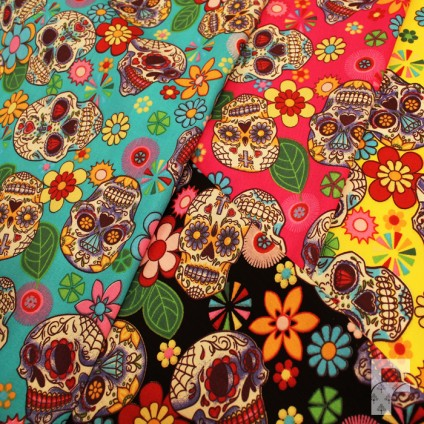 Sugar Skulls - Mexican Day of the Dead - Rose & Hubble